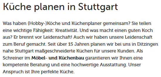Küchenmöbel für  Fellbach