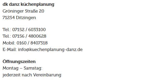 maßgeschneiderte Küche für 74321 Bietigheim-Bissingen